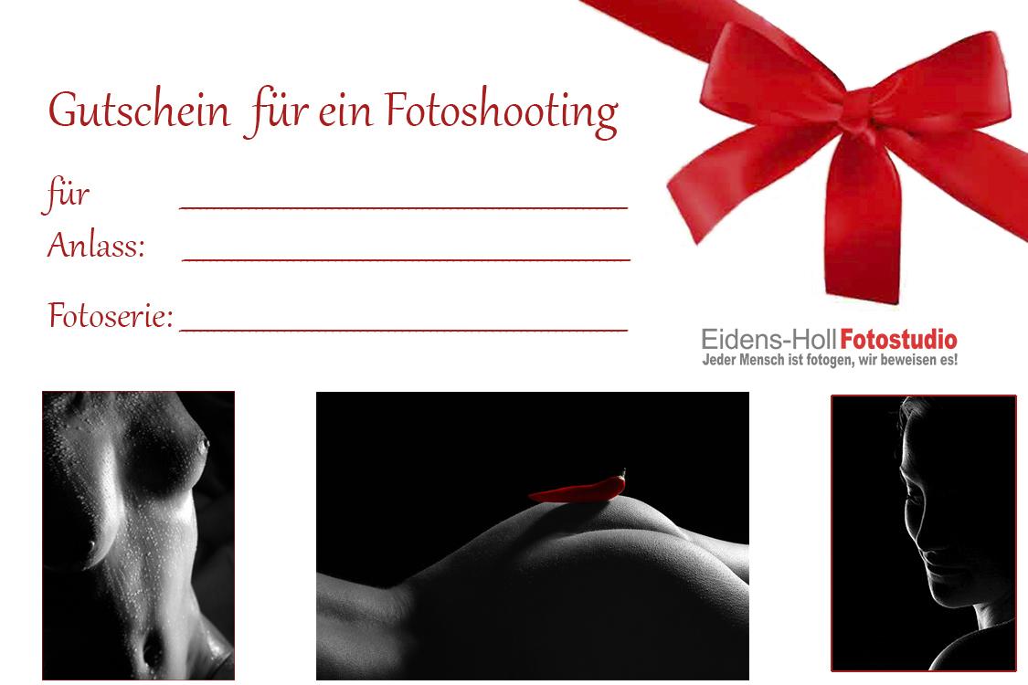 Gutschein Dessous - Aktfoto - Shooting